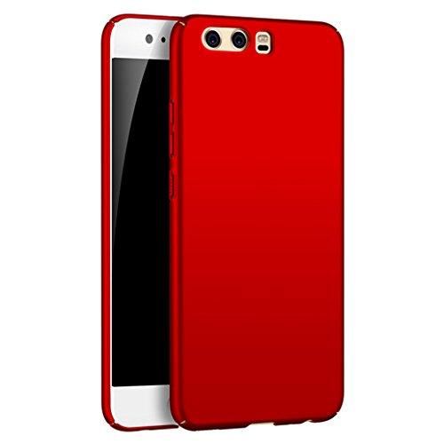 Custodia Huawei P10, Yoowei® Huawei P10 Cover Alta Qualità Ultra Sottile Piena Protezione PC Shell Duro Retro Custodia per Huawei P10, Tocco serico - Rosso