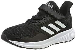 adidas Unisex-Kinder Duramo 9 Fitnessschuhe, Schwarz (Negbás/Ftwbla/Negbás 000), 30.5 EU