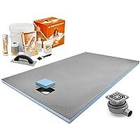 prowarmtm fine Drain Wet Room scarico vassoio 1600mm x 900m con doccia e kit di installazione