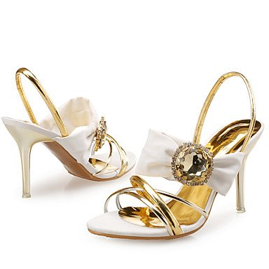 LvYuan Da donna-Sandali-Matrimonio Formale Serata e festa-Club Shoes-A stiletto-Di pelle Sintetico Lustrini-Blu Bianco White
