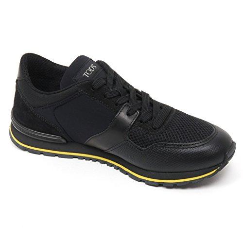Tods B9792 sneaker uomo scarpa new spoiler nero shoe man Nero