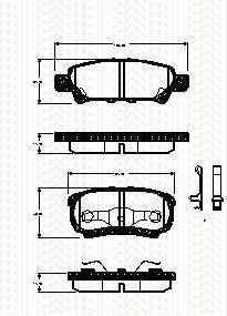 Triscan 8110 42024 - Kit Pastiglie Freno, Freno A Disco