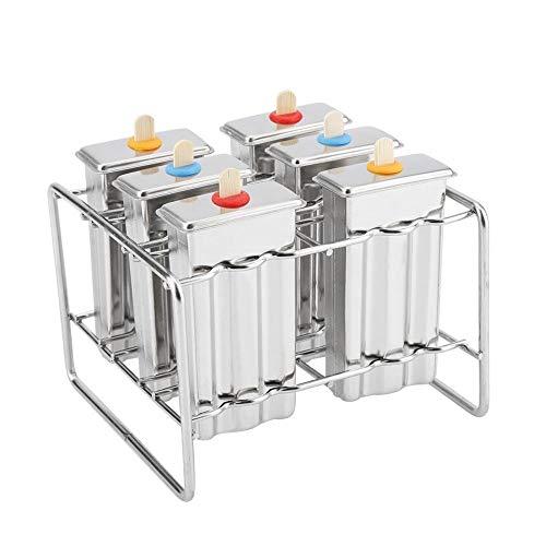 Cafopgrill Edelstahl EIS EIS am Stiel Formen Kit EIS Pop Makers mit Tray Industrial Home Küche DIY EIS Pop Mold Maker Tool(1#)
