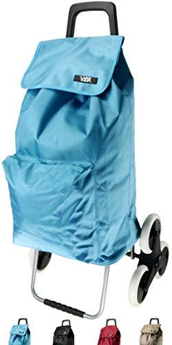 Vida Chariot de Courses CV618 6 Roues Saute Obstacles (escalier) (Bleu)