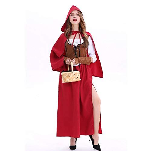 AIXIAOYU Halloween KostüM Cosplay RotkäPpchen Maskerade Party Performance Kosten Erwachsene Weiblich (Velvet Sexy Hexe Kostüm)
