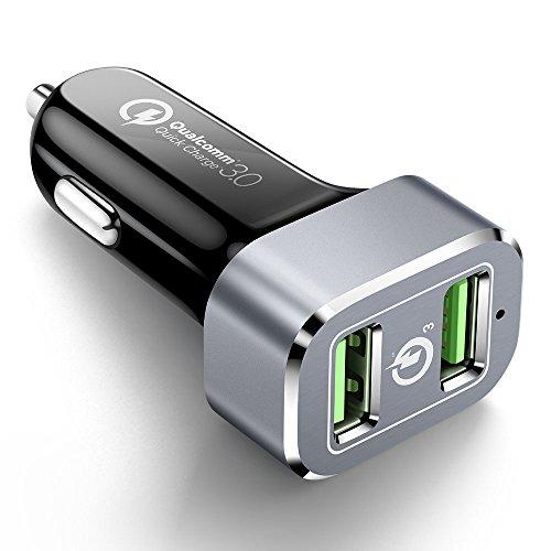 ALCLAP QC 3.0 KFZ Ladegerät Quick Charge 36 W Dual USB KFZ Fast Ladegerät Adapter für iPhone X 8 Plus 8, Galaxy S9 S8 S8 Plus und Anderen iOS und Android-Geräte