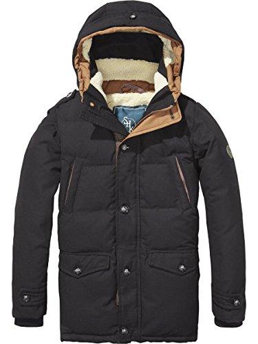 Scotch & Soda Shrunk Jungen Mantel Teddy Lined Coat Grau (Antra 005), 164 (Herstellergröße: 14)