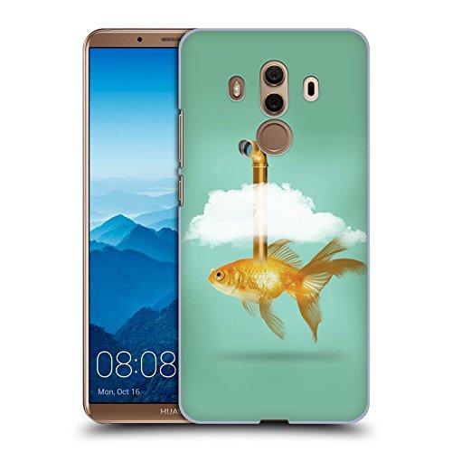 Tasche Periskop (Offizielle Vin Zzep Periskop Goldfisch Fisch Ruckseite Hülle für Huawei Mate 10 Pro)