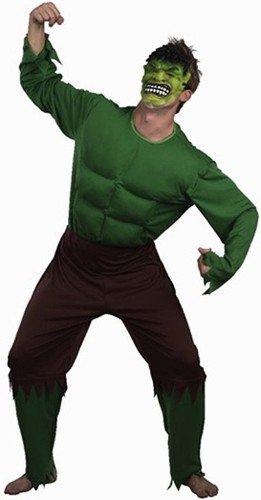 ERWACHSENEN GRÜNES GROSSES SUPERHELDEN HULKY MONSTER KOSTÜME IN DER MÄNNER GRÖSSE L= UNGEFÄHR 52/54 Hulk Männer Hosen
