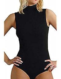 dames de coton col beaucoup un t-shirt / justaucorps (2360) - toutes les tailles