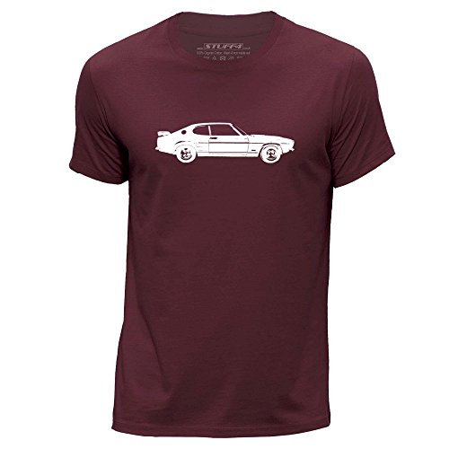 Stuff4® Herren/Mittel (M)/Burgund/Rundhals T-Shirt/Schablone Auto-Kunst/Capri RS2600 (Burgund Christmas Stockings)