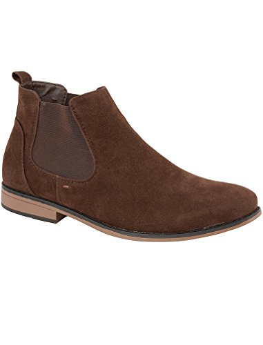 Mens Kanye Charles Southwell Faux Suede Chelsea Gusset Italian Style Fashion Dealer Ankle Boots Size 7-12