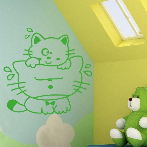 STIKID - CATS - 70x70 cm- Wall stickers Ð Wandtattoo Wallsticker - aufkleber - decal - kinder deco