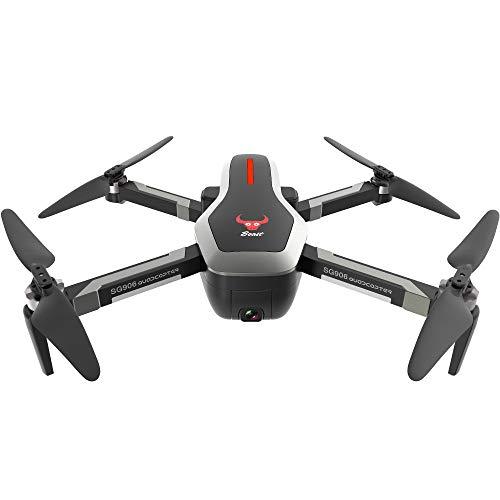 Wanshop  Drohne mit Kamera hd live Übertragung SG906 GPS 5G WiFi FPV 4K Kamera Brushless Selfie Faltbare RC Drone,Anfänger und Experte,Tragetasche (schwarz) Portable Video-sender