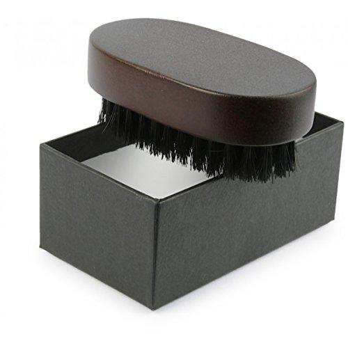Rusty Bob - Haute barbe bois brosse noyer avec poils de sanglier dans une boîte de rangement [Coffret] de barbe professionnelle rognage - Set 1