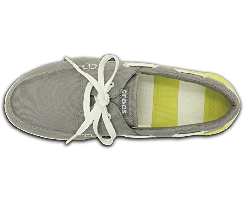 0ac384140 Buy Crocs Unisex Beach Line Lace-up Boat M Canvas Sneakers on Amazon ...