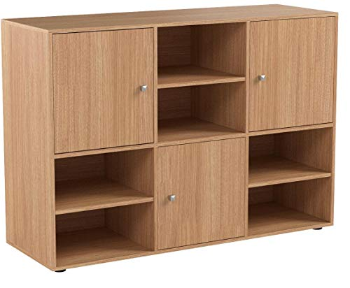 homcom mobile libreria scaffale 6 cubi da ingresso ufficio salotto 110x40x78cm legno