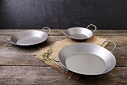 CHG Eisenpfannen Spar-Set, 3-TLG, Silber, 28.5 cm, 3-Einheiten