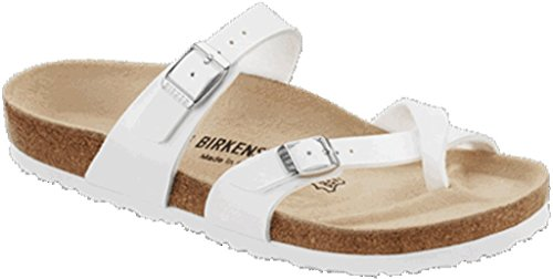 Birkenstock Mayari Birko Flor, Mules femme weiss