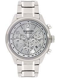Gigandet Quarz Herren-Armbanduhr Journey Chronograph Uhr Datum Analog Edelstahlarmband Silber G25-002