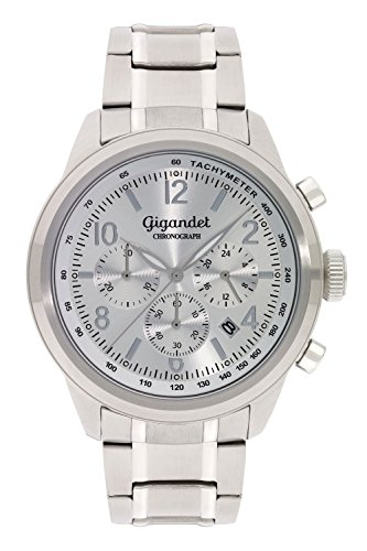Gigandet Herren Uhr Chronograph Quarz mit Edelstahl Armband G25-002