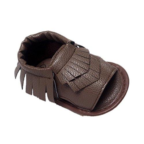 Chaussures de bébé Auxma Chaussures d'été pour bébés fille garçon Des sandales Pour 3-18 mois (12-18 M, Noir) marron