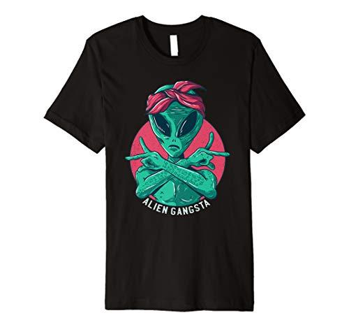 Green Alien Rapper Gangsta T-Shirt Damen ()