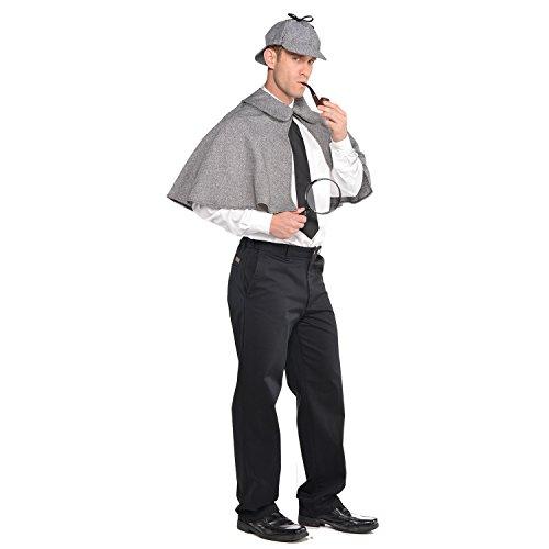 Scotland Yard Detective Sherlock Holmes dress up Set Hat and Cape Fancy Dress accessory