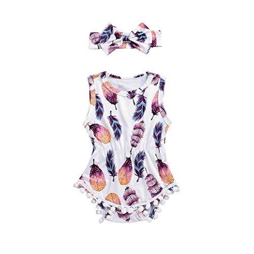 Baby Kinder Mädchen Sommer Kleidung Bekleidungssets Playsuit KleidungBabykleidung Outfits Kleidung Set Spielanzug Overall Trainingsanzug Set 2PCS (6-24Monat) LMMVP (Mehrfarbig, 100 (24Monat))