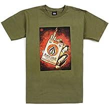 Obey Shirt Gold Basic grün Militärische Herren