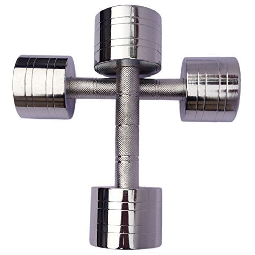 Body Maxx Chrome Steel Dumbells sets 7.5 KG X 1 PAIR  available at amazon for Rs.1599