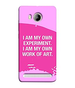 FUSON Designer Back Case Cover for Vivo Xshot :: Vivo X Shot (I Am My Own Work Of Art Madonna Ciccone Quotes)