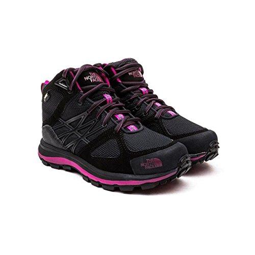 The North Face W Litewave Mid Gtx, Chaussures de Randonnée Femme Gris / Morado