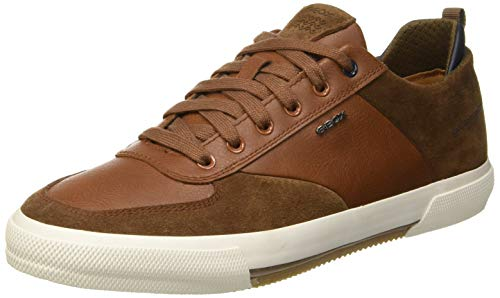 Geox Herren U Kaven a Sneaker, Braun (Browncotto/Cognac C6g6n), 42 EU