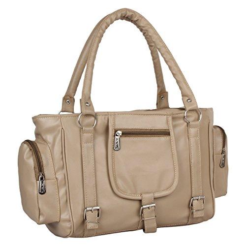 Flora Premium PU Leather Women\'s Handbag (Grey Color)