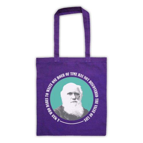 Charles Darwin valore di vita Tote Bag Viola