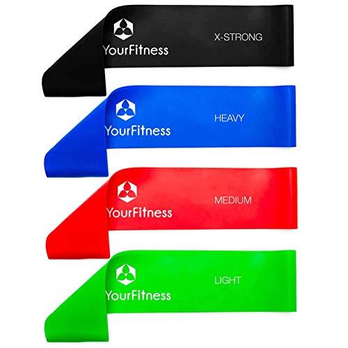 4er Set Fitnessband »Achilles« Latex Loop-Band für Fitness, Reha und Physiotherapie