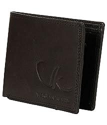 Vagan-kate double stich black leather wallet for men