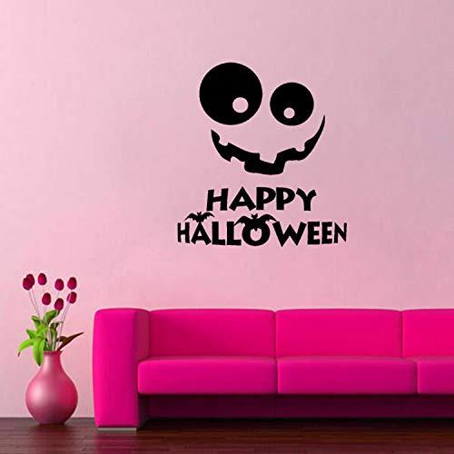 huangyuzzzz Wandaufkleber Halloween Aufkleber Lächeln Aufkleber Halloween Urlaub PVC Wohnkultur 56,3 cm * 60,9 cm (Einfach Handwerk Halloween Kindergarten)