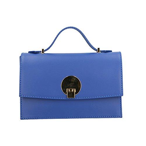 Chicca Borse sac à bandoulière en cuir véritable 22x15x10 Cm