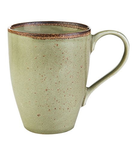 Kaffeetasse Kaffeebecher Teetasse NATURE COLLECTION GRÜN 4 | Steinzeug | Grün | 300 ml