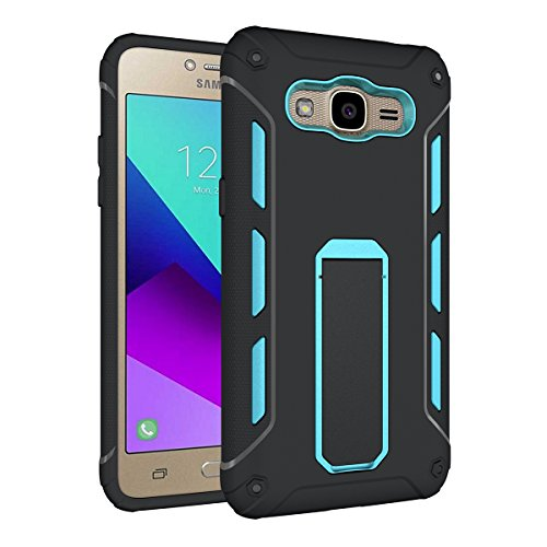 Galaxy A3(2017) Kickstand Coque,EVERGREENBUYING Ultra Slim léger Etui SM-A320F Cases Protective Housse Antichoc Hard Shell Back Case Pour Samsung GALAXY A3 (2017 Version Only) Bébé Rose Bleu