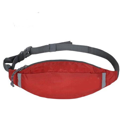 Sport und Fitness Workout Gürtel Running Tasche Gürteltasche Tasche und leicht Wasserabweisend und Wandern Taille Pack für laufen Wandern Radfahren Reisen alle Outdoor-Sport rot - rot