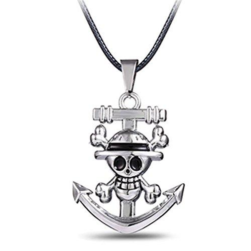 One Piece Collar Collar colgante collar joyas cadena kabrik Calavera A