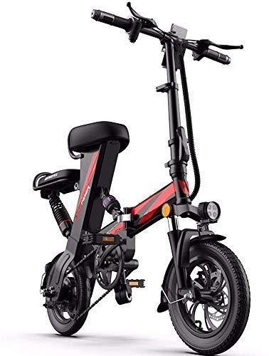 INSGOS Elektro-Faltrad Elektroauto Elektro-Scooter Triple-Shock Steigerung Der Elektro-Fahrrad Umweltfreundlich/Rot / 50 km -
