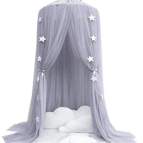 Betthimmel Baldachin fürs Kinderzimmer, kuppelförmig Baumwollgarn, Insektenschutz -