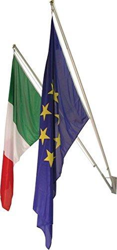 Kit 2 posti da esterno, completo di coppia bandiere italia europa