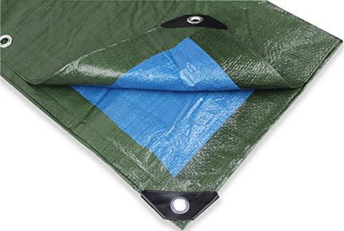 Tata home telo multiuso antistrappo rinforzato e con occhielli double face verde e blu misura cm 400x600 metri 4x6