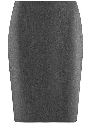 oodji Collection Femme Jupe Basique Coupe Droite Gris (2500M)