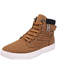 Amlaiworld Zapatillas De Hombre Zapatos de Primavera otoño Para hombres Zapatos masculinos Zapatos Oxford altos hombre Zapatos deportivos con cordones Para hombre (Caqui, EU42 /CN 43)